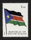 view 1ssp Flag of South Sudan single digital asset number 1