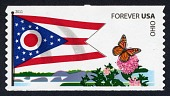 view Forever Ohio Flag and Butterfly coil single digital asset number 1
