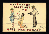 "view ""Valentine Greetings to Mary MacDonald"" watercolor drawing digital asset number 1"