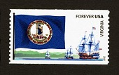 view Forever Virginia Flag and Ships coil single digital asset number 1