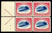 view 24c Curtiss Jenny inverted block of four digital asset number 1