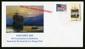 """view """"NO FDL SHOW: PANDEMIC"""" postmark on """"WISCOPEX 2020"""" cachet cover digital asset number 1"""