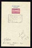 view 3c 50th Anniversary of Statehood Map President Franklin D. Roosevelt sketch digital asset number 1