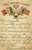 view YMCA postcard for the mission in Italy for American soldiers digital asset number 1