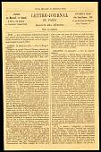 view Gazette des Absents Newspaper from Paris office at Rue de Clery digital asset number 1
