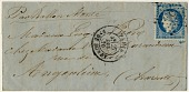 view Folded letter from Paris office at Rue de Bondy digital asset number 1