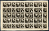 view 10c Washington reproduction plate proof on card sheet of fifty digital asset number 1