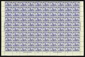 view 4c ultramarine Fleet of Columbus sheet of one hundred digital asset number 1