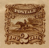 view 2c Post Rider and Horse Panama-Pacific small die proof digital asset number 1