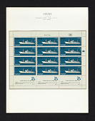 view 1000p Passenger ship Zion full sheet of stamps on album page digital asset number 1