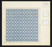 view 5m on 1pi Palestine Blue overprint sheet of one hundred twenty digital asset number 1