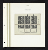 view 110p Pres. Chaim Weizmann and standard reconstructed sheet on album page digital asset number 1