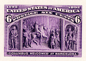 view 6c Columbus Welcomed at Barcelona plate proof digital asset number 1