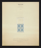 view 1pi Palestine Blue imperforate proof digital asset number 1