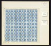 view 1pi Palestine Blue Transfer G sheet of one hundred twenty digital asset number 1