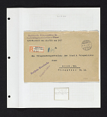 view cover sent from German field post in Jerusalem on album page digital asset number 1