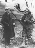 view Photograph of airmail pilot Jack Knight and unidentified individual digital asset number 1