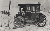 view Photograph of rural carrier in automobile at mailboxes digital asset number 1