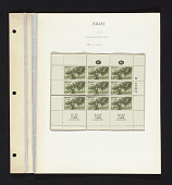 view 10p Olive tree reconstructed sheet of stamps on album page digital asset number 1