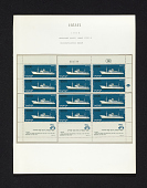view 1000p Passenger ship Zion reconstructed sheet of stamps on album page digital asset number 1