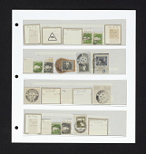 view Rehovot canceled postage stamps on album page digital asset number 1