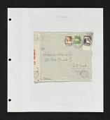 view Bethlehem Palestine to Port-Said, Egypt censored cover on album page digital asset number 1