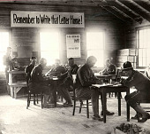 view Photograph of soldiers writing letters home digital asset number 1