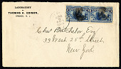 view 1c Columbus in Sight of Land pair on cover digital asset number 1