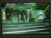 view [Naumkeag]: stairs and entrance lodge to Chinese Garden. digital asset: [Naumkeag]: stairs and entrance lodge to Chinese Garden.: 1985 Aug.