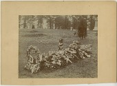 view Funerary floral arrangement photographic print: graveside floral arrangement digital asset number 1