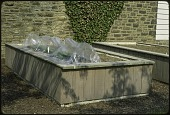 view [Miscellaneous Garden Structures and Features]: cold weather protection for plants in raised beds. digital asset: [Miscellaneous Garden Structures and Features] [slide (photograph)]: cold weather protection for plants in raised beds.