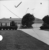 view [Converse Garden]: looking up to front of house from end of driveway. digital asset: [Converse Garden] [photographic print]: looking up to front of house from end of driveway.