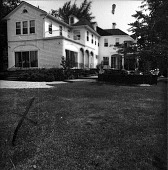 view [Unidentified Garden in Unknown Location]: view of house from lawn. digital asset: [Unidentified Garden in Unknown Location] [contact print]: view of house from lawn.