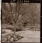 view [Unidentified Garden in Darien, Connecticut]: patio area. digital asset: [Unidentified Garden in Darien, Connecticut] [photoprint]: patio area.