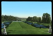 view [Cliveden]: the parterre on the south of the house as seen from the terrace. digital asset: [Cliveden]: the parterre on the south of the house as seen from the terrace.: [between 1925 and 1935]