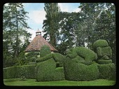 view [Compton Wynyates]: gazebo and topiary work. digital asset: [Compton Wynyates]: gazebo and topiary work.: [between 1925 and 1935]