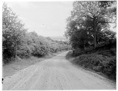 view [Miscellaneous Sites in England, Series 1]: a country road in an unidentified rural location. digital asset: [Miscellaneous Sites in England, Series 1] [glass negative]: a country road in an unidentified rural location.