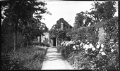 view [Sutton Place]: garden border and an old summer house. digital asset: [Sutton Place] [negative]: garden border and an old summer house.