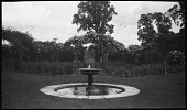 view [Sutton Place]: fountain and rose garden. digital asset: [Sutton Place] [negative]: fountain and rose garden.