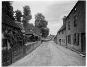 view [Miscellaneous Sites in Shere, Surrey, England, and Vicinity, Series 1]: Upper Street in Shere. digital asset: [Miscellaneous Sites in Shere, Surrey, England, and Vicinity, Series 1] [glass negative]: Upper Street in Shere.