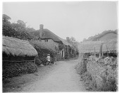 view [Miscellaneous Sites in Branscombe, Devon, England]: thatch-roofed cottages [now called The Rookeries, Lower Deems, and Lower Dean] and outbuildings on Berry Hill [a lane] in the Branscombe hamlet of Street. digital asset: [Miscellaneous Sites in Branscombe, Devon, England] [glass negative]: thatch-roofed cottages [now called The Rookeries, Lower Deems, and Lower Dean] and outbuildings on Berry Hill [a lane] in the Branscombe hamlet of Street.