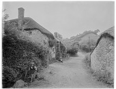 view [Miscellaneous Sites in Branscombe, Devon, England]: thatch-roofed cottages [now called The Rookeries, Lower Deems, and Lower Dean] and outbuilding on Berry Hill [a lane] in the Branscombe hamlet of Street. digital asset: [Miscellaneous Sites in Branscombe, Devon, England] [glass negative]: thatch-roofed cottages [now called The Rookeries, Lower Deems, and Lower Dean] and outbuilding on Berry Hill [a lane] in the Branscombe hamlet of Street.