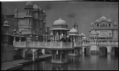 view [Franco-British Exhibition, 1908]: the Court of Honor, with the British Textiles Building on the left. digital asset: [Franco-British Exhibition, 1908] [negative]: the Court of Honor, with the British Textiles Building on the left.