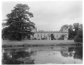 view [Wilton House and Vicinity]: the stately home, with the River Nadder in the foreground. digital asset: [Wilton House and Vicinity] [glass negative]: the stately home, with the River Nadder in the foreground.