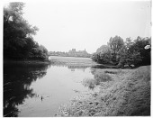 view [Miscellaneous Sites in Nottinghamshire, England]: looking across Thoresby Lake toward Thoresby Hall. digital asset: [Miscellaneous Sites in Nottinghamshire, England] [glass negative]: looking across Thoresby Lake toward Thoresby Hall.