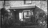 view [Unidentified Sites in England]: back garden of a row house in an unidentified location. digital asset: [Unidentified Sites in England] [negative]: back garden of a row house in an unidentified location.