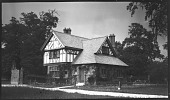 view [Unidentified Sites in England]: an unidentified cottage, probably a gatehouse on a country estate. digital asset: [Unidentified Sites in England] [negative]: an unidentified cottage, probably a gatehouse on a country estate.