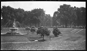 view [Miscellaneous Sites in London, England]: the old sunken garden in Hyde Park, showing the Boy and Dolphin Fountain by Alexander Munro. digital asset: [Miscellaneous Sites in London, England] [negative]: the old sunken garden in Hyde Park, showing the Boy and Dolphin Fountain by Alexander Munro.