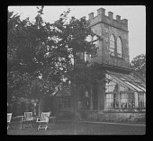 view [Russell House]: the Belvedere in the garden. digital asset: [Russell House] [lantern slide]: the Belvedere in the garden.