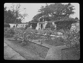 "view [Sudeley Castle]: the walled rose garden, later known as the ""Secret Garden."" digital asset: [Sudeley Castle] [lantern slide]: the walled rose garden, later known as the ""Secret Garden."""